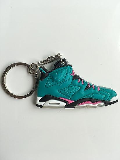 ed1dbef7665262 Amazon.com   Jordan Retro 6 South Beach Custom Sneaker Keychain Shoes  Keyring AJ 23 OG   Sports   Outdoors
