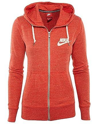 Nike Gym Vintage Full-Zip Hoodie Girls Light Crimson/Sail