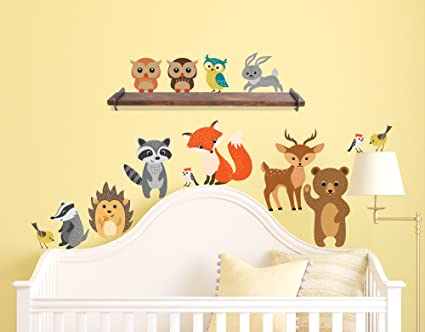 Wall Stickers Forest Owl Animal Wall Stickers Butterfly Rabbit Squirrel Tree Swing Decor Kids Children For Rooms Baby Nursery Rooms Home