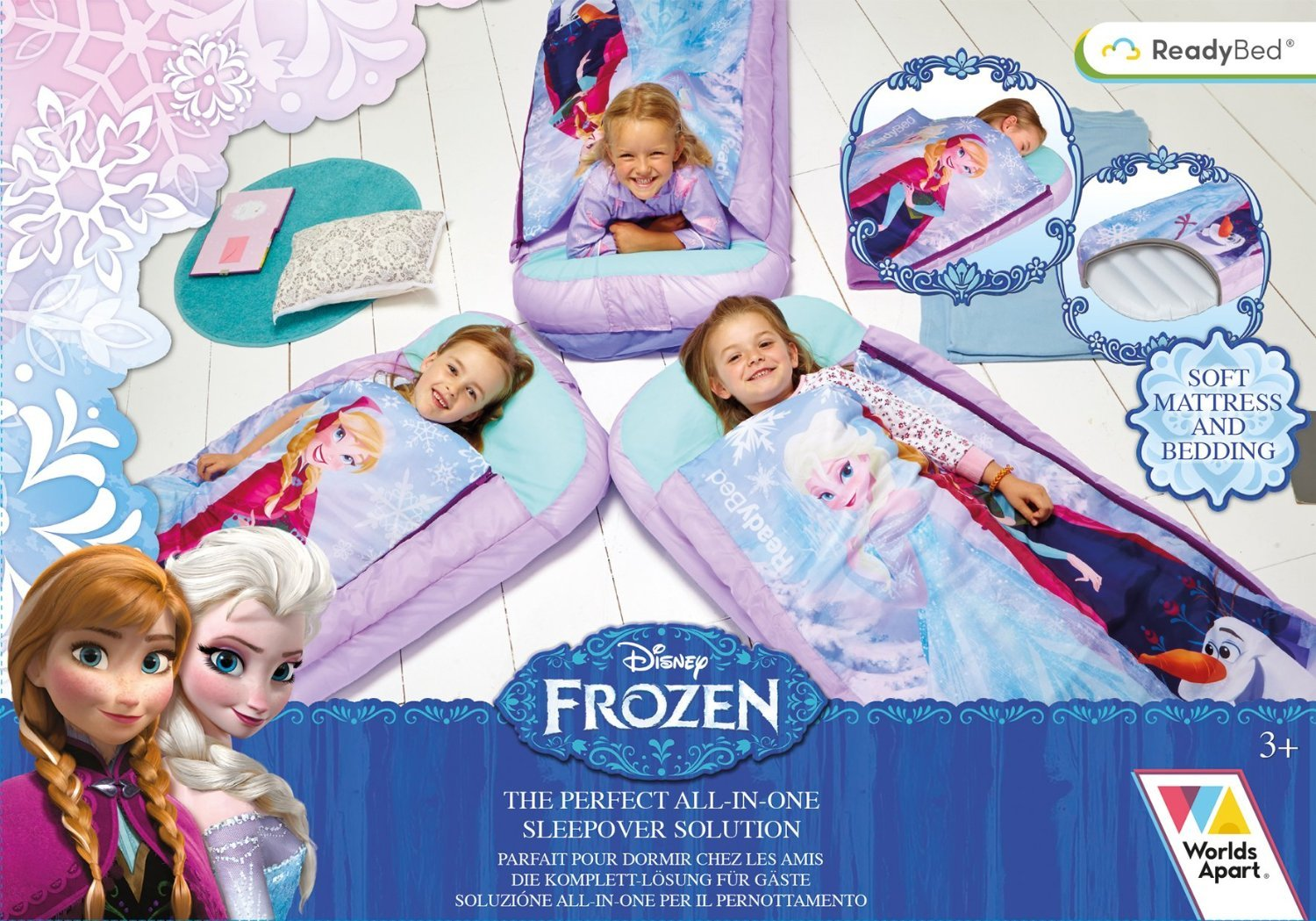 Airbed and Sleeping Bag In One Nap Mat Genuine Frozen Frozen All In One Sleepover Bed