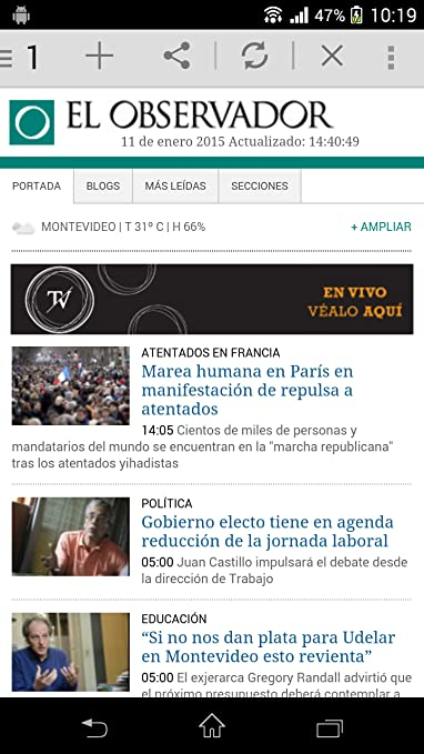 Amazon.com: All Newspapers Uruguay: Appstore for Android