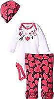 Gerber Baby Baby Girls' 3 Piece Bodysuit, Cap, and Pant Set