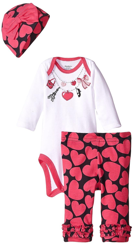 【半額】 Gerber Gerber Babyベビー女の子3 Pieceボディスーツ、キャップ Months、とパンツセット 24 Necklace Months Necklace B00W5LLTBG, 北海道物産品ショップ ながい:8ceb17a5 --- a0267596.xsph.ru