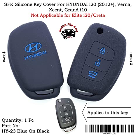 Sfk Silicone Flip Key Cover For Hyundai I20 Igen New Verna Xcent