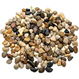 2 Pounds Large Decorative River Rock Stones - Natural Polished Mixed Color Stones -Use In Glassware, Like Vases, Aquariums And Terrariums To Enhance The Appearance, ? By Katzco