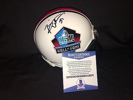 62d27f2b1b5 Brian Urlacher Signed Mini Helmet - Official Hall of Fame Beckett - Beckett  Authentication - Autographed