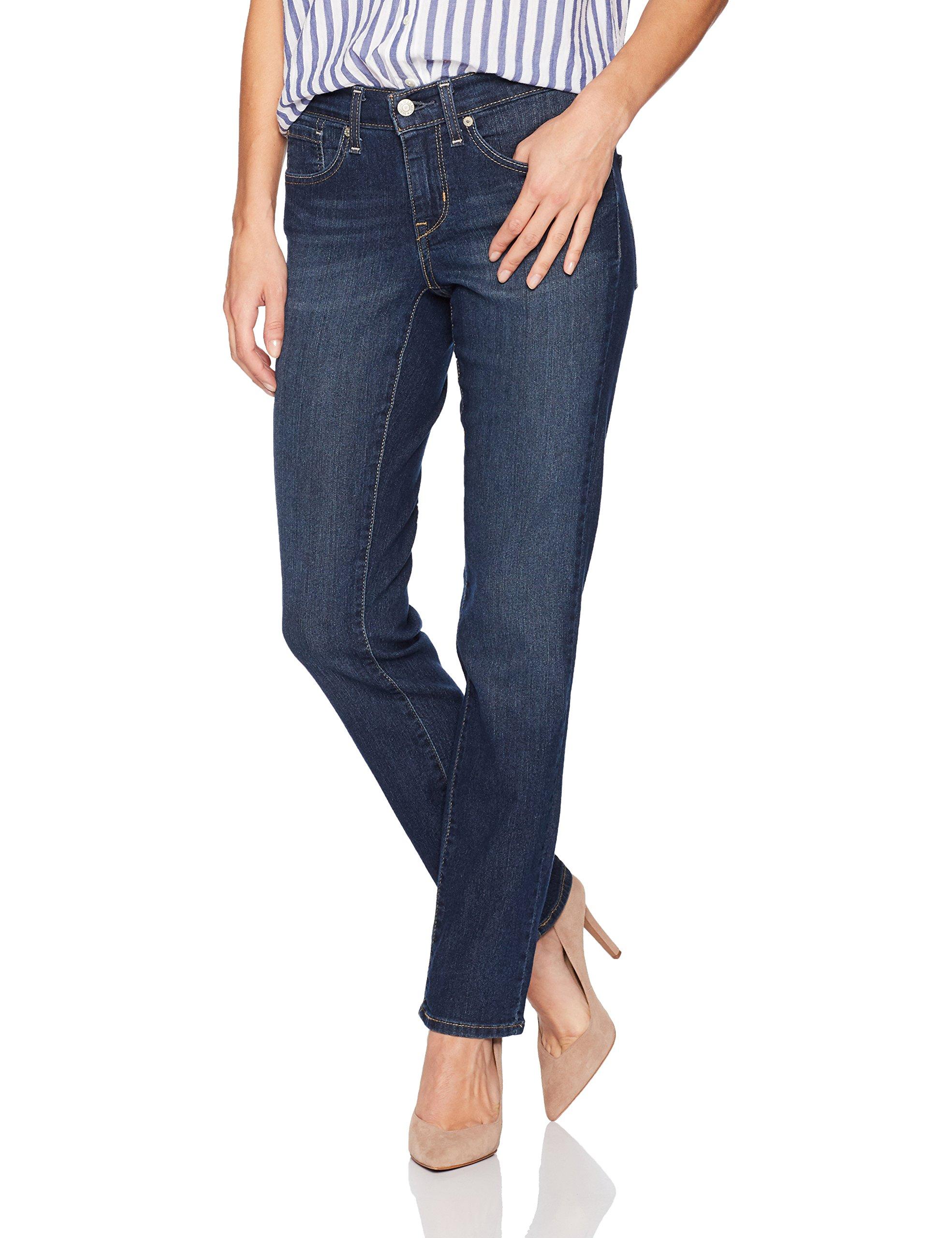 Signature by Levi Strauss & Co Women's Curvy Straight Jeans, Awaken, 12 Medium