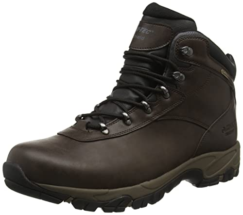 Altitude V I WP - Botas de senderismo de cuero hombre, Marrón (Dark Chocolate/Black), 48 EU Hi-Tec