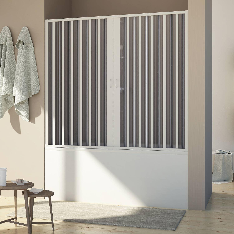 Forte BR221001 Mampara de bañera de puerta reducible, apertura ...