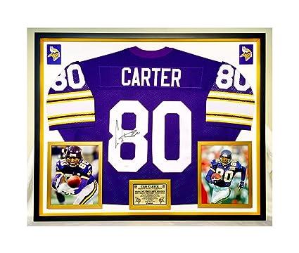 timeless design a954a 36237 Premium Framed Cris Carter Autographed/Signed Minnesota ...