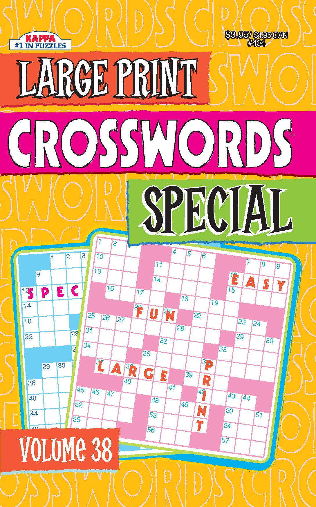 - Large Print Crosswords Special Puzzle Book-Volume 38 – KAPPA BOOKS