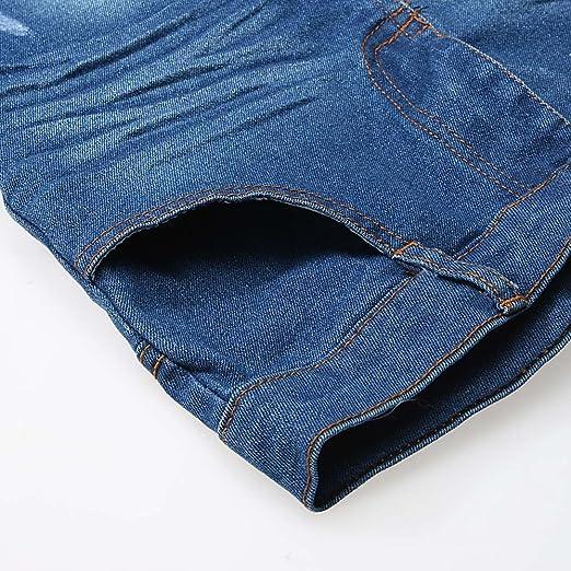 PinkLu Las NiñAs Negras De Manga Larga Camiseta Conjunto De Jeans NiñO PequeñO Bebé NiñOs NiñAs Traje Ropa De Manga Larga Camiseta Tops + Jeans Pantalones 1set (3~4 año/100cm, Negro): Amazon.es: Ropa