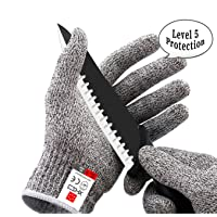 XHSJ Cut Resistant Gloves in High Performance EN388 Certified Level 5 Protection...