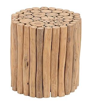 Deco 79 38411 Teak Wood Foot Stool 14u0026quot; x 16u0026quot; ...  sc 1 st  Amazon.com & Amazon.com: Deco 79 38411 Teak Wood Foot Stool 14