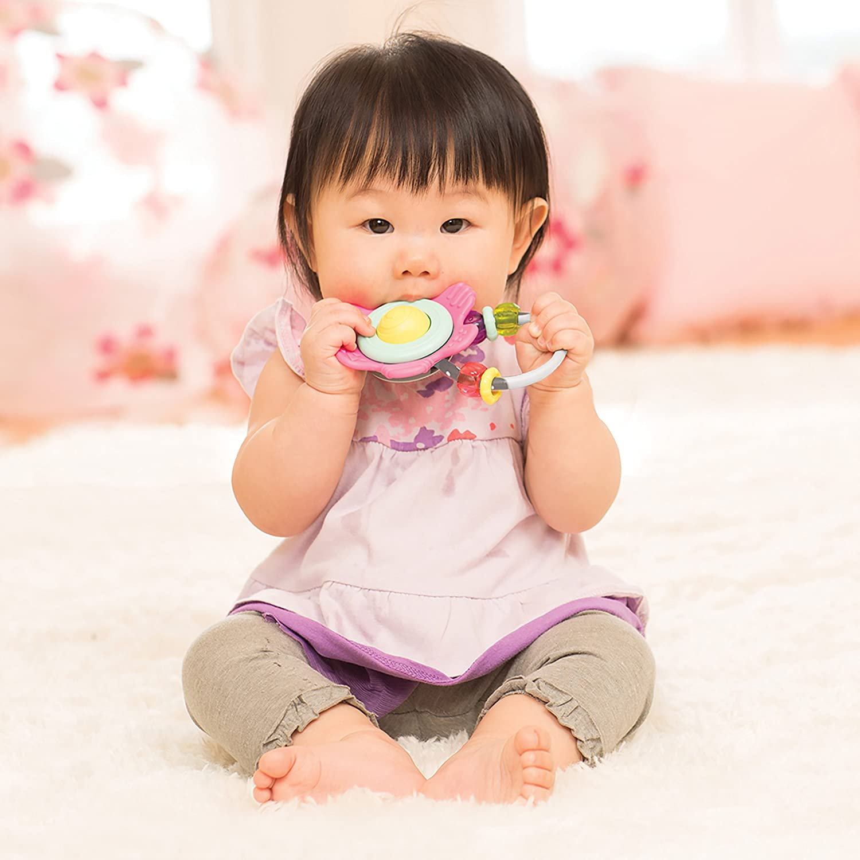 Infantino Spin /& Teethe Gummy Flower Rattle