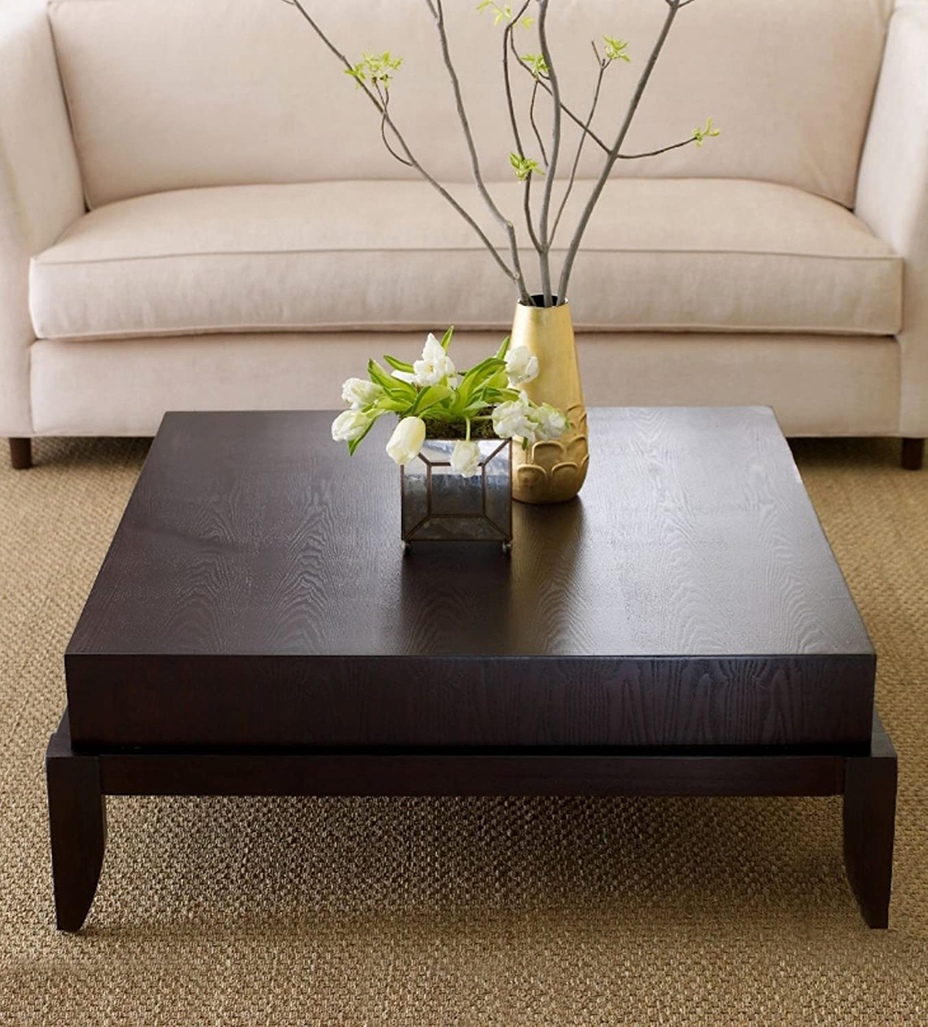 Amazon Abbyson Adam s Morgan Square Coffee Table Home & Kitchen