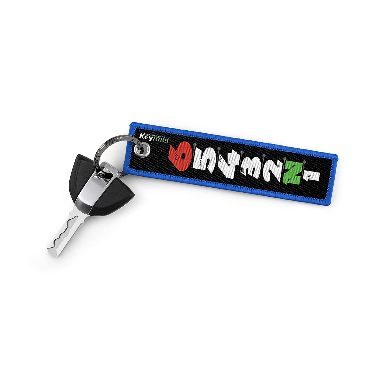 Premium Quality Key Tag for Motorcycle Sportbike KEYTAILS Keychains 1 Down 5 Up - 65432N1