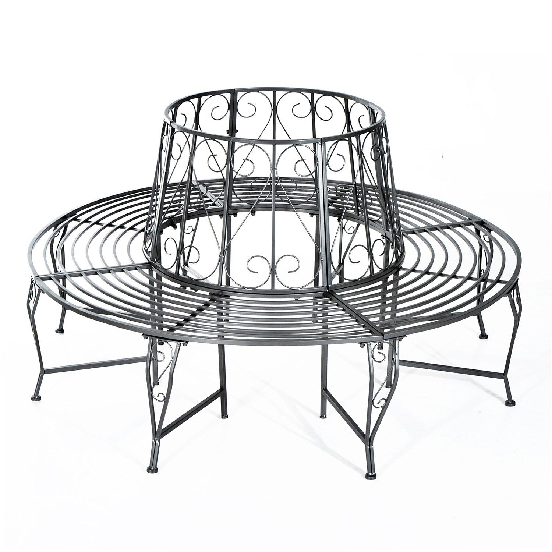 tree seats garden furniture. Beautiful Seats Outsunny Outdoor Garden Metal Round Tree Bench Seat Diameter 160cm Height  90cm Metallic Grey For Seats Furniture