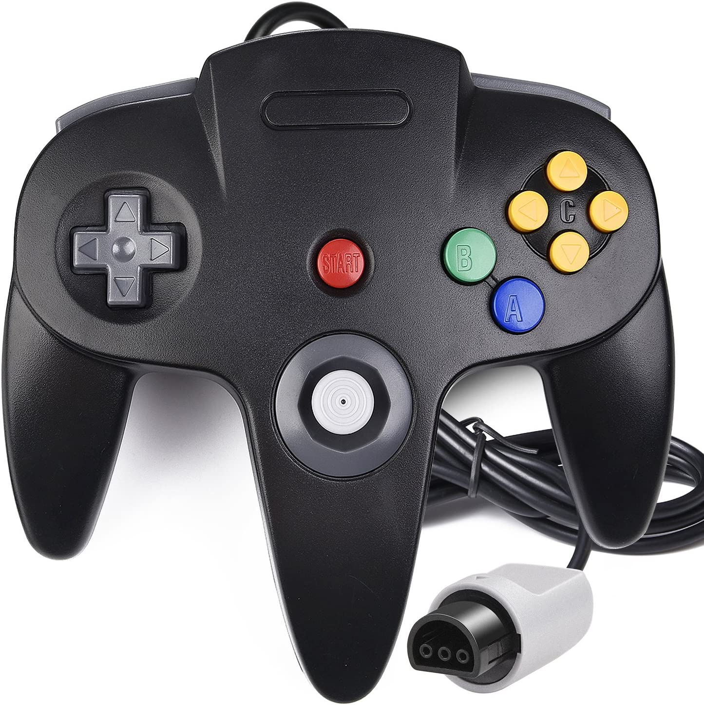N64 Controller, iNNEXT Classic Wired N64 64-bit Gamepad Joystick for Ultra 64 Video Game Console (Black)
