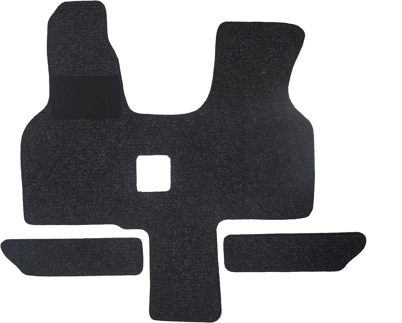 1-tlg. + 2 Einstiege in Qualit/ät Robust anthrazit, Umrandung silber Fu/ßmatte 1614 Autoteppich von Alpha-Tex