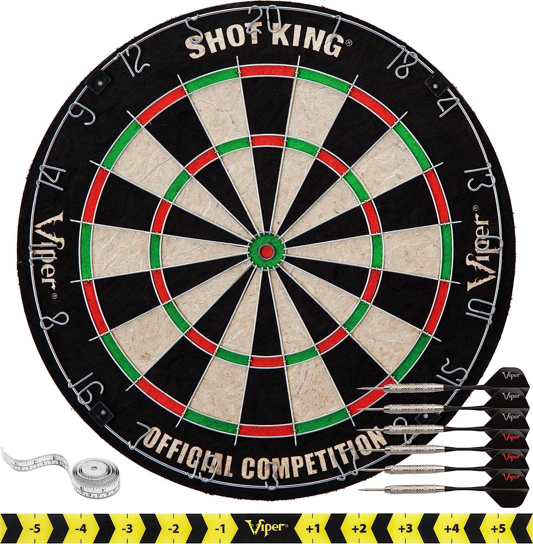 Viper By GLD Products Shot King Regulation Bristle Steel Tip Dartboard Set