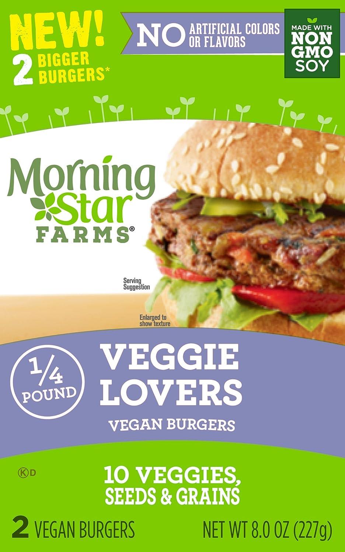 Amazon Morningstar Farms Veggie Lovers Vegan Burgers Grocery