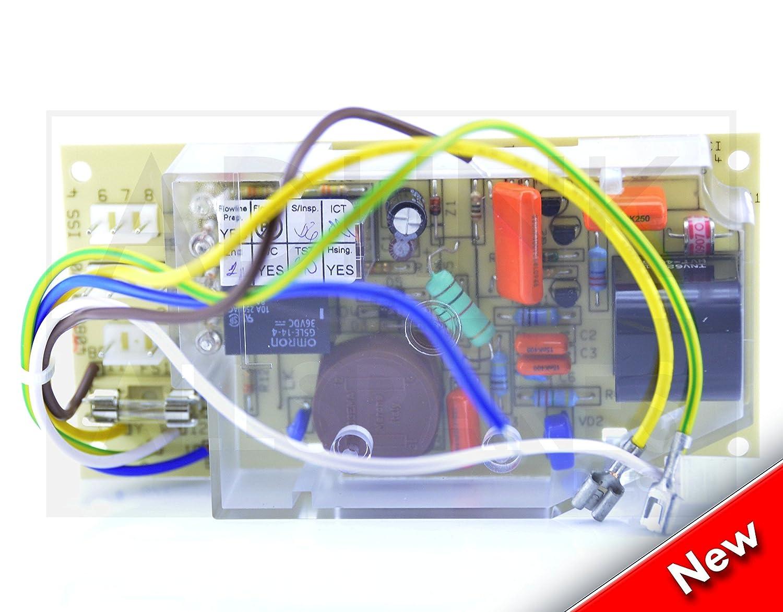GLOWWORM XEON 30 40 50 60 80 120 FF CIRCUIT BOARD PCB 1 FUSE 5 WIRE S900817