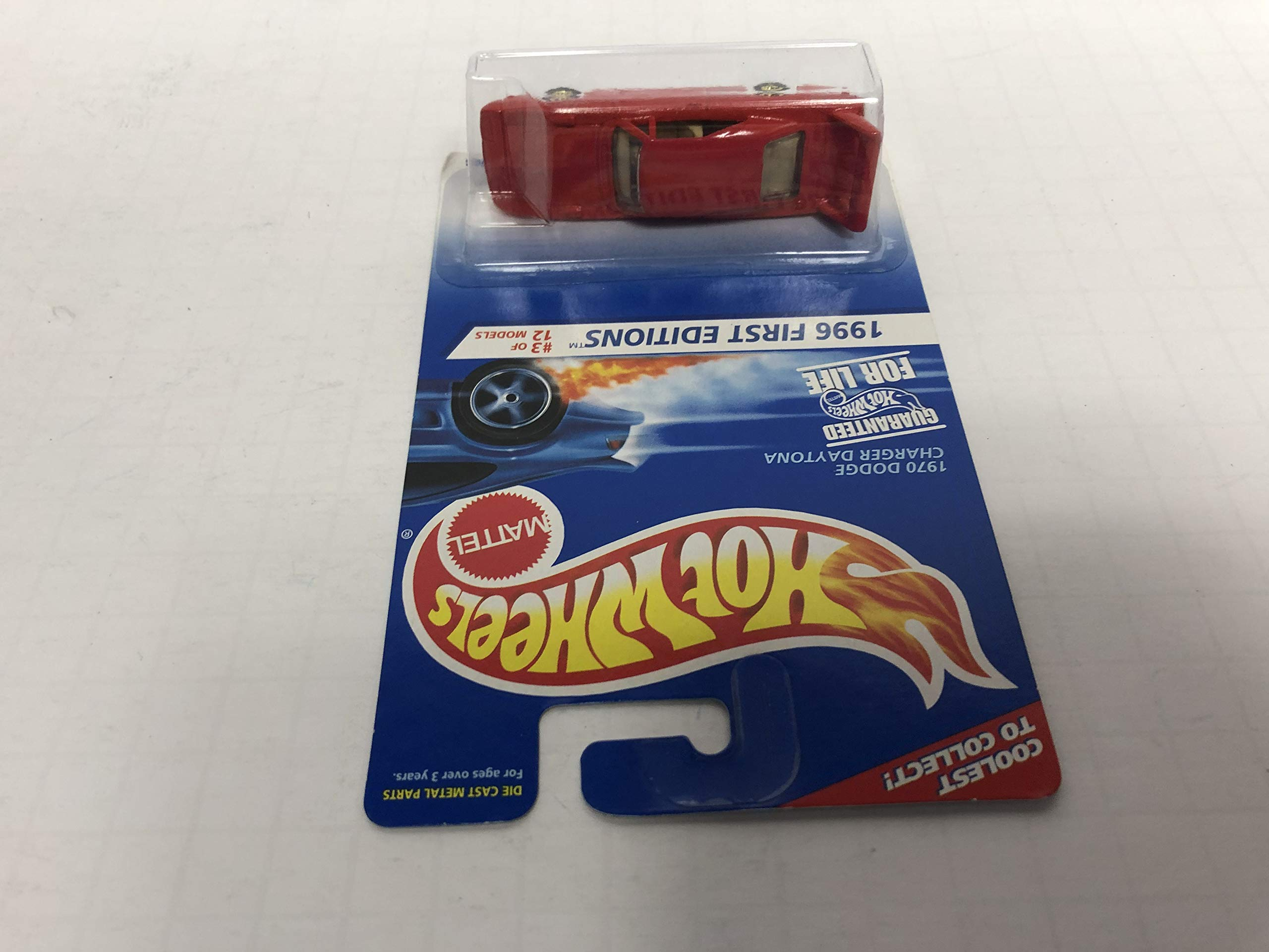 1970 DODGE CHARGER DAYTONA (Gold Rims) 1996 First Editions Hot Wheels No. 3 diecast 1/64 scale car
