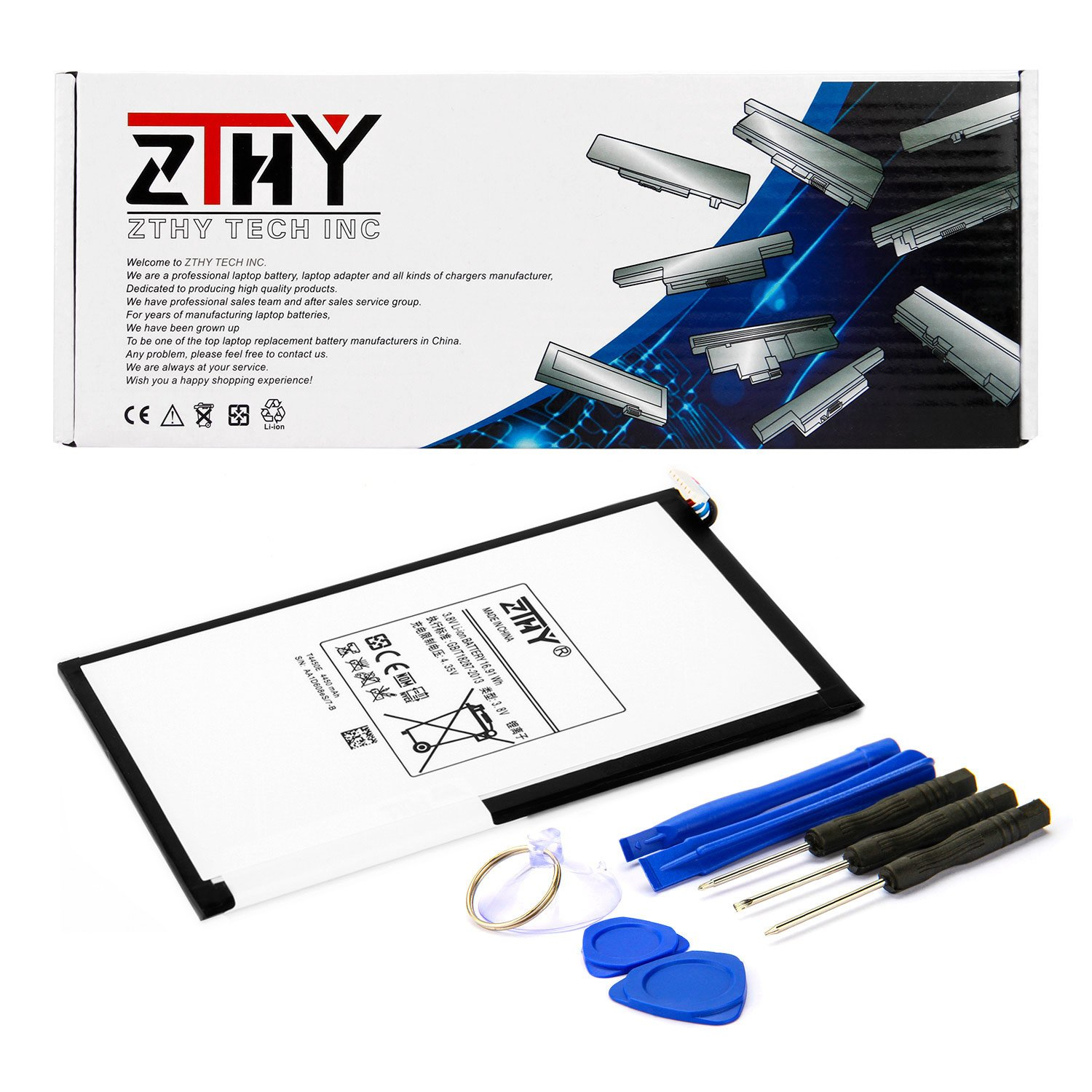 ZTHY Compatible T4450E Tablet Battery Replacement for Samsung Galaxy Tab 3 8.0 T310 T311 SM-T310 SM-T311 SM-T315 Series T4450C T4450U 3.8V 4450mAh with Tools by ZTHY