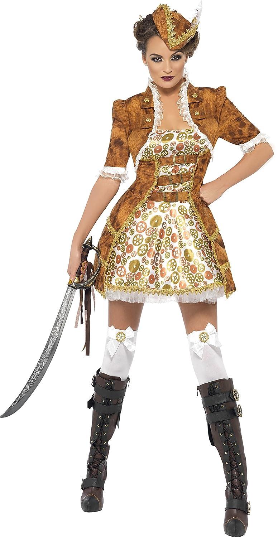 sc 1 st  Amazon.com & Amazon.com: Smiffyu0027s Steam Punk Sexy Pirate Costume: Clothing