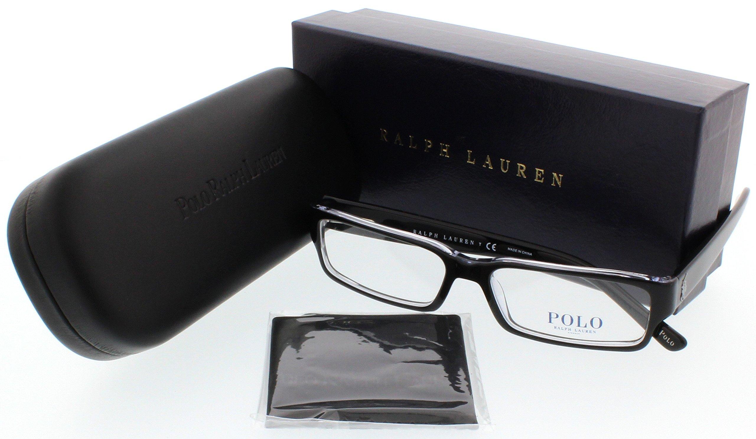 Polo Ralph Lauren PH2039 Eyeglasses Top Black / Crystal 54mm [Apparel]
