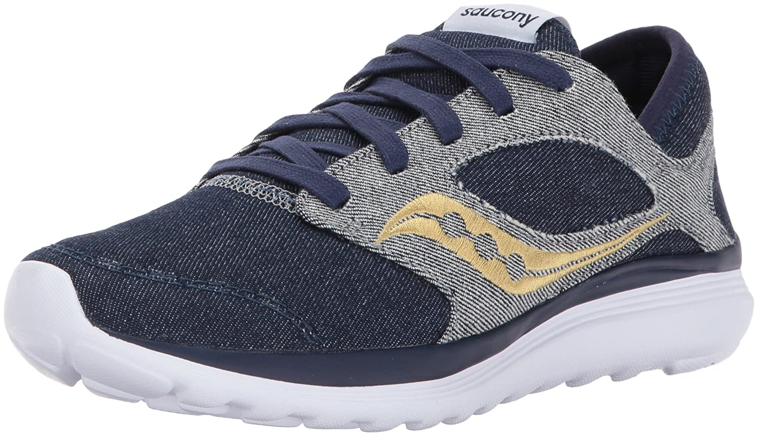 Saucony Women's Kineta Relay Denim Sneaker B01NCORUJ1 12 B(M) US|Blue