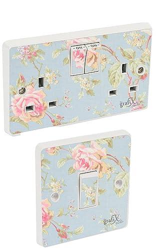 Shabby Chic Light Switch & Double Socket Sticker Vinyl / Skin cover sosw28