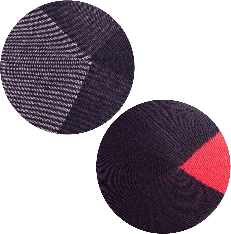 Calcetines respetuosos con el medio ambiente de algod/ón reciclado Paquete de 14 pares de calcetines de algod/ón de lujo transpirables e inteligentes para hombres