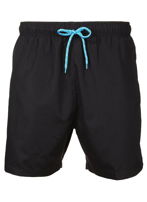 Laguna Men's New Islander Solid Color Relaxed Fit Boardshort Swim Trunks Bathing Suit, UPF 50+