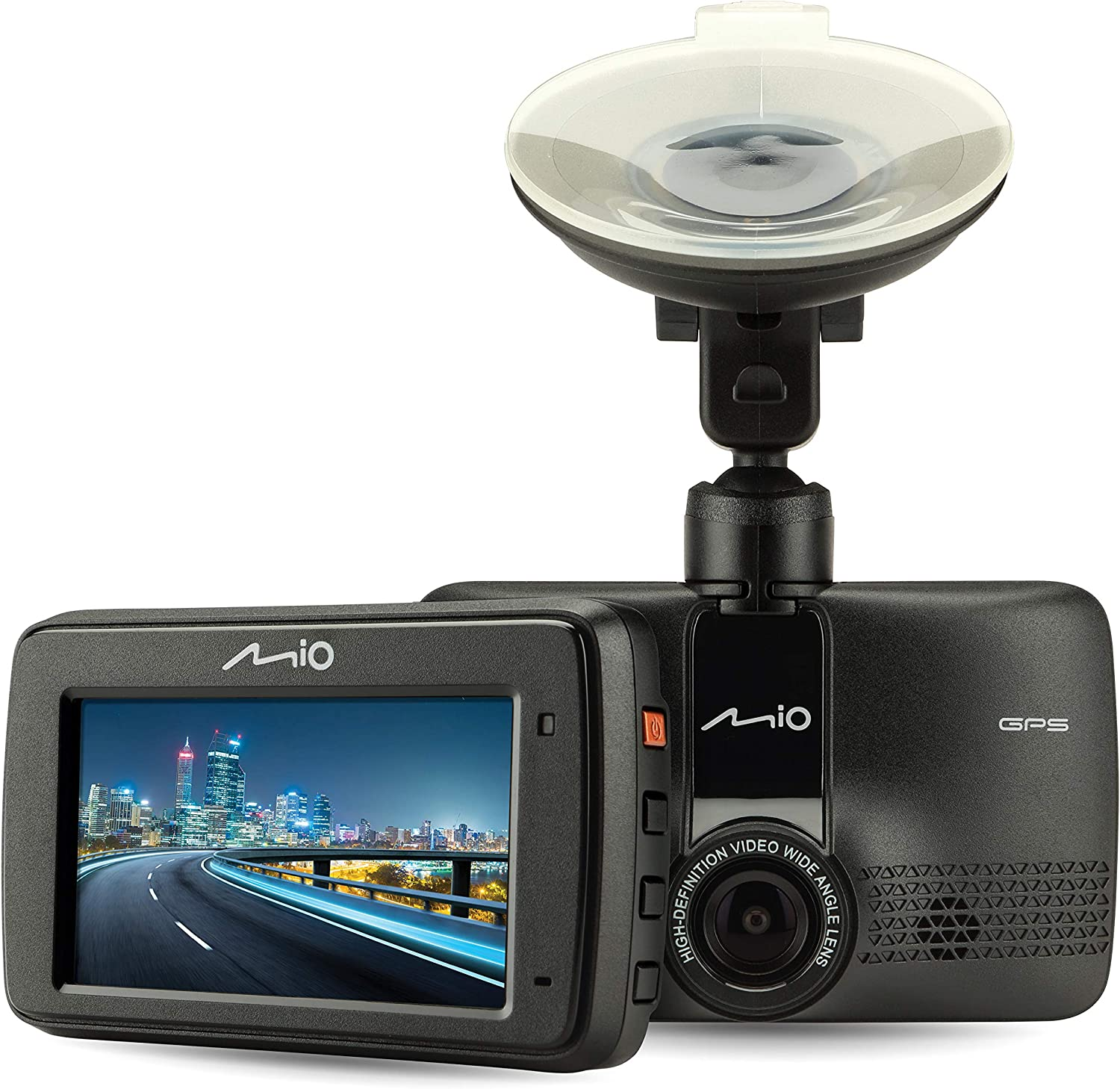 Mio MiVue 731-GPS Mounted Car Security Dash Camera with 1080p Full HD Recording, 130° Wide-Angle Lens - Includes Built-in GPS, G-Sensor for Emergency Backup & Safety Alerts