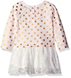 kensie Girls' Baby French Terry and Tulle