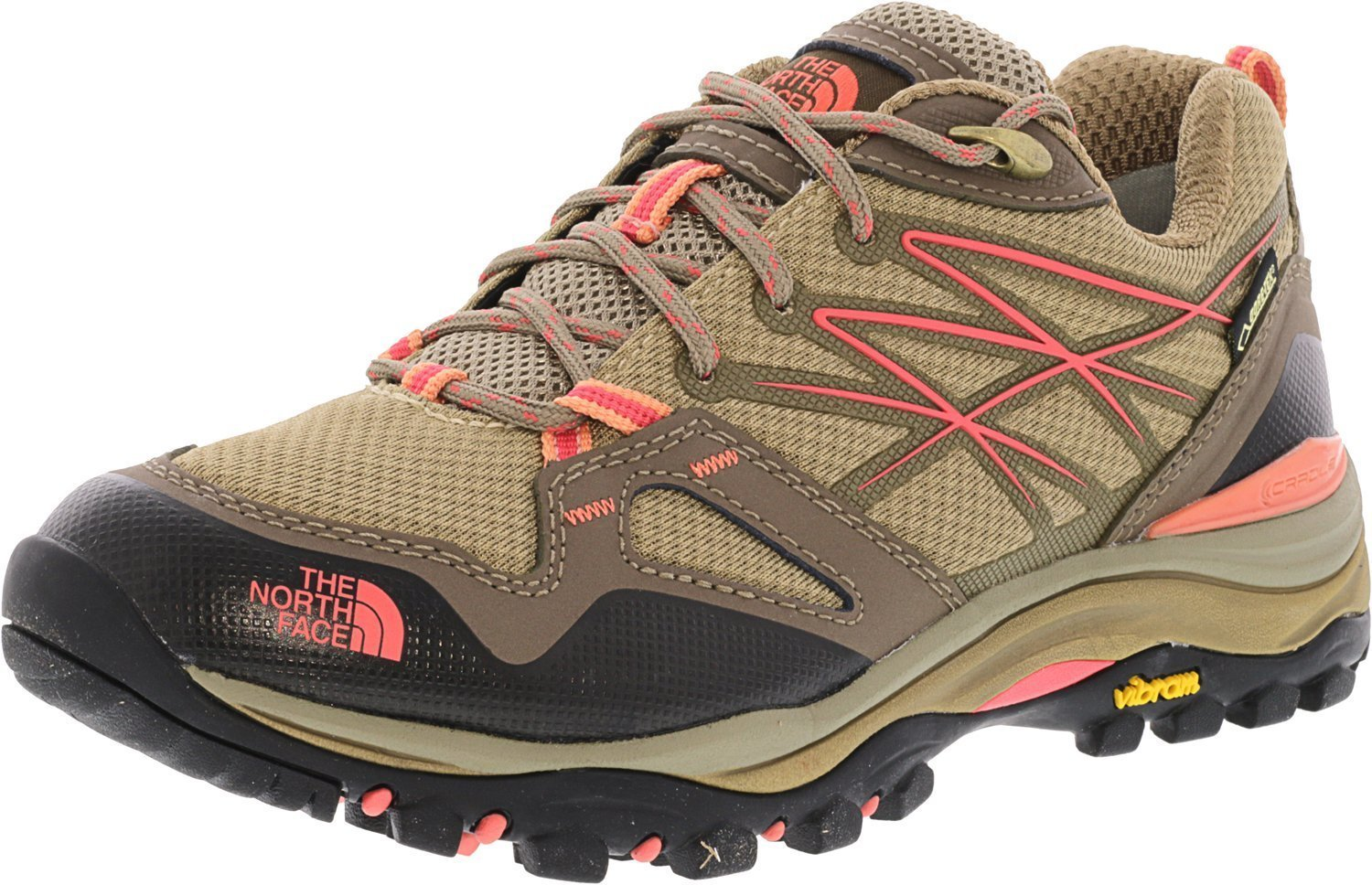 The North Face Hedgehog Fastpack GTX Hiking Shoe - Women's Cub Brown/Fiesta Red, 9.5