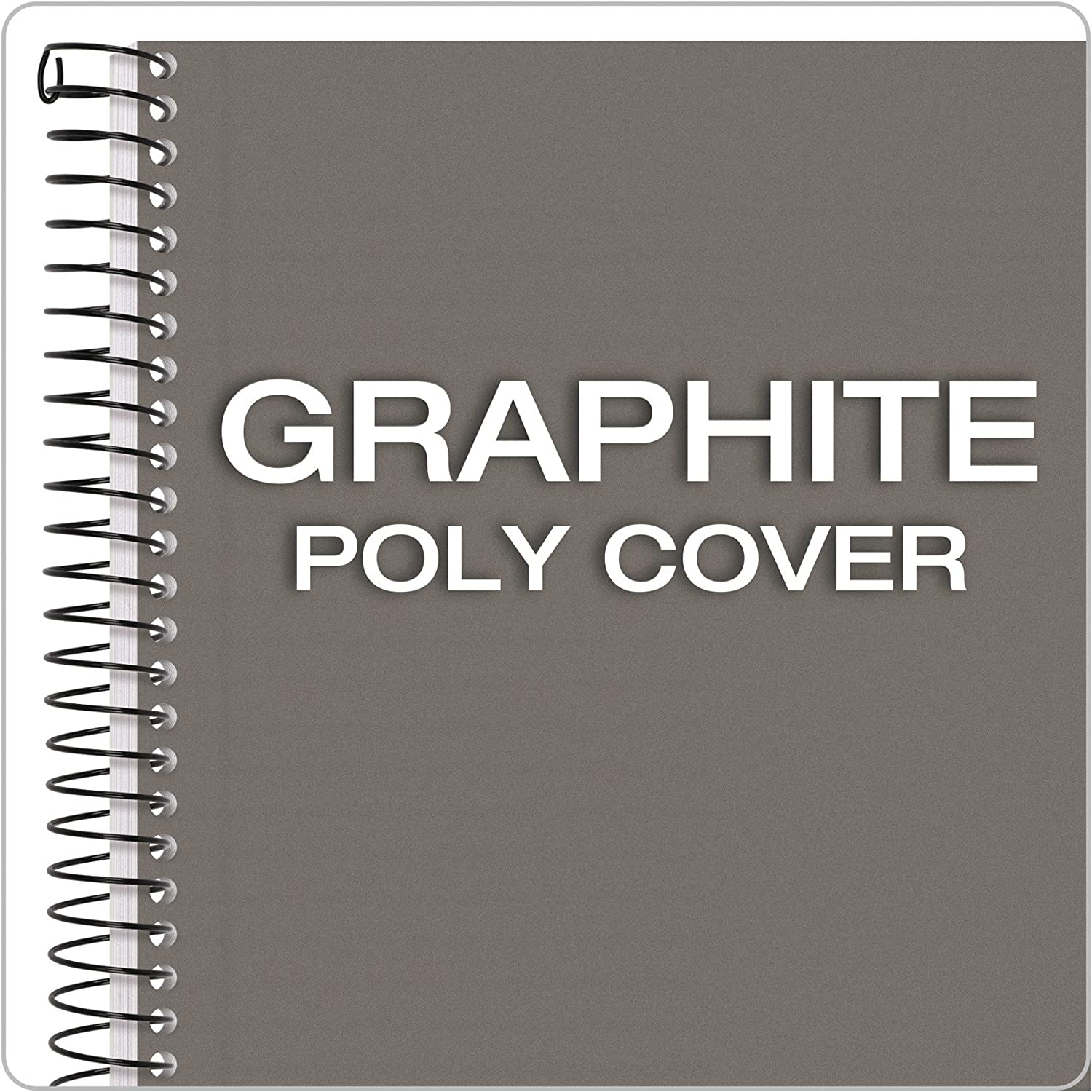 73507 100 Sheets per Book Graphite Plastic Cover College Rule TOPS Classified Business Notebook 5.5 x 8.5-Inch