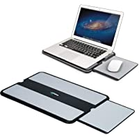 EHO Laptop Lap Pad - Laptop Stand Pad w Retractable Mouse Pad Tray, Anti-Slip Heat Shield Tablet Notebook Computer Stand…