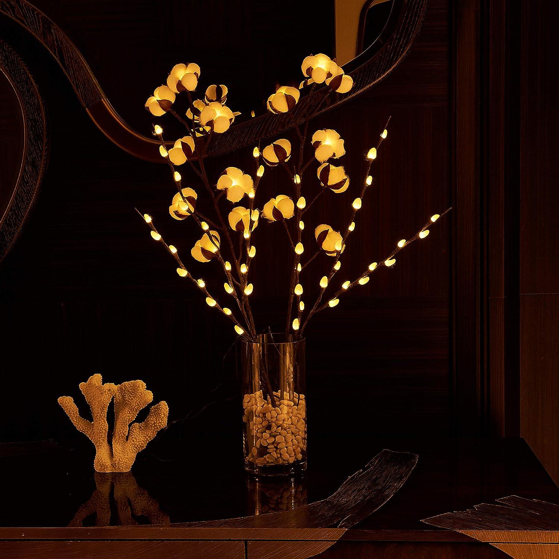 Hairui dise/ño de flores Luces de hielo
