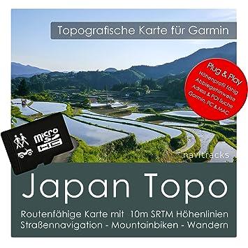 Japón Garmin tarjeta Topo 8 GB MicroSD. Mapa Topográfico de ...