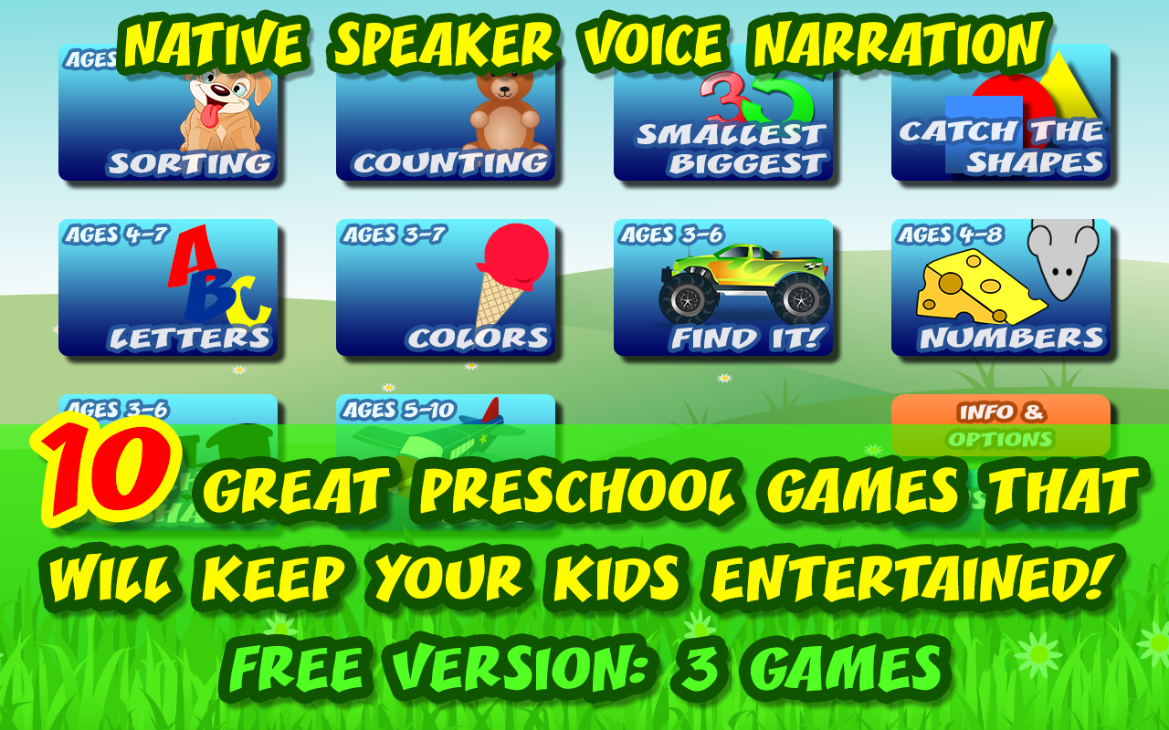 Amazon.com: 3 Preschool Activities in One App - Fun Educational Kids ...