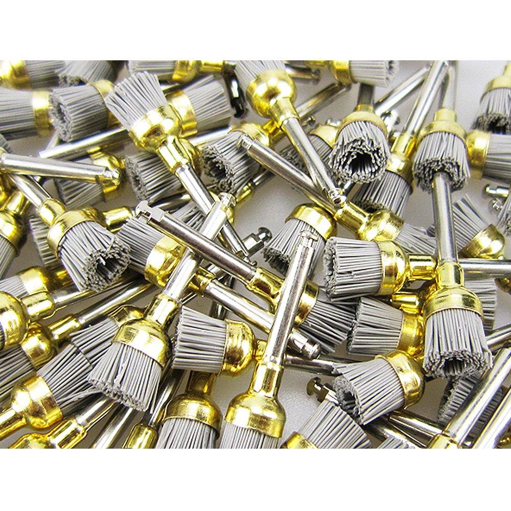 100pcs/pk Dental Alumina Bowl Polishing Polisher Brush Prophy Brushes by airgoesin