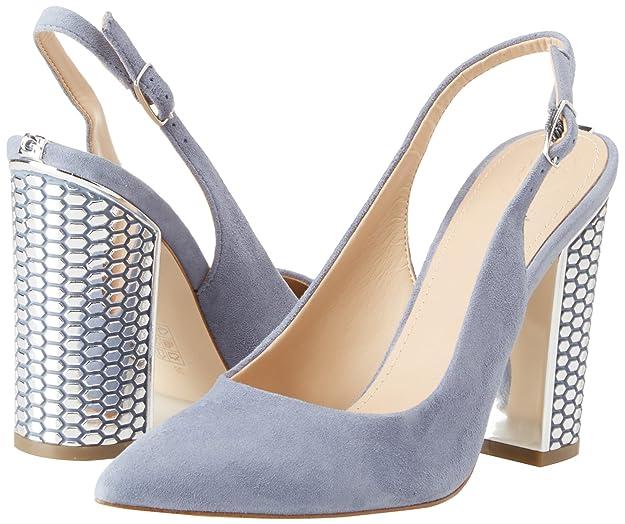 Guess Footwear Dress Sling Back, Sandalias con Punta Cerrada para Mujer, Azul (Light Blue Lblue), 38 EU Guess