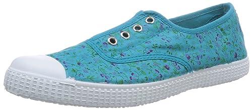 Natural World Ingles Flores - Zapatillas de Estar por casa de Lona para niña Verde Grün (AGUAMAR) 42: Amazon.es: Zapatos y complementos