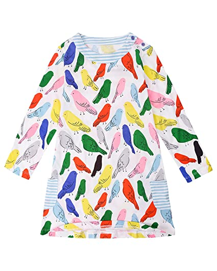 f559dd8d2cc4 Amazon.com  Gold treasure Little Girls Nightgown 100% Cotton ...