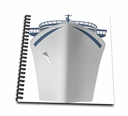 Amazon Com 3d Rose Blue And White Cruise Ship Drawing Book
