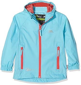Trespass QIKPAC Kids Waterproof Breathable School Rain Coat Jacket