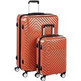 Amazon Basics Geometric Luggage - 2 piece Set (55cm, 78cm), Orange